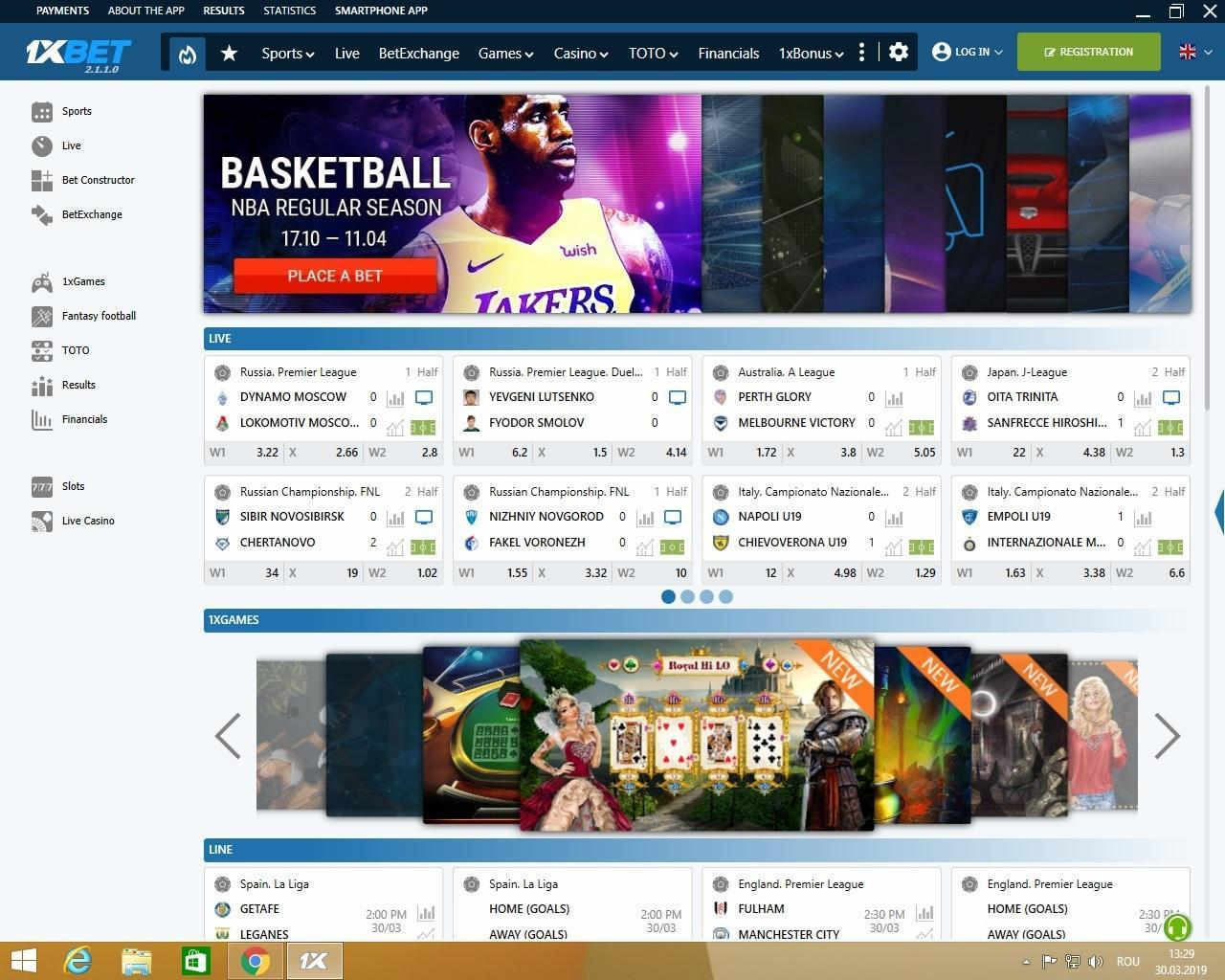 1xbet app windows